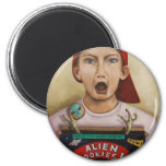 Alien Cookies finished painting 2 Inch Round Magnet
