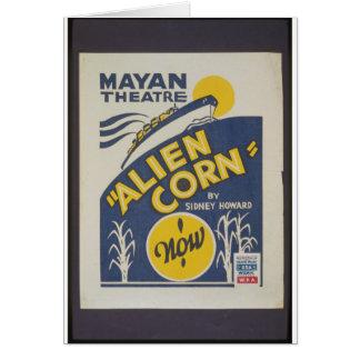 Alien Corn 1938 Greeting Card