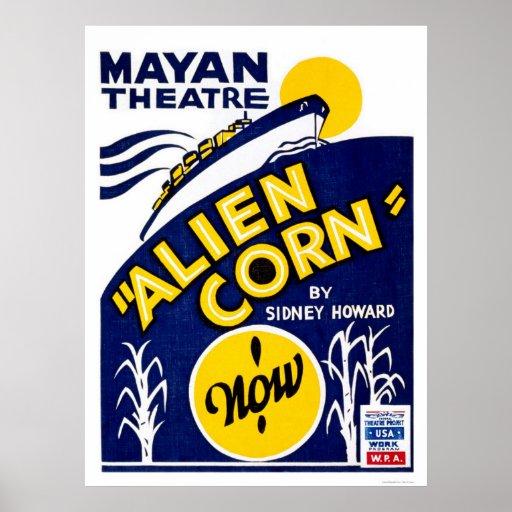 Alien Corn Drama 1938 WPA Poster