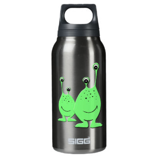 Alien Couple - Cute Cartoon Characters Insulated Water Bottle