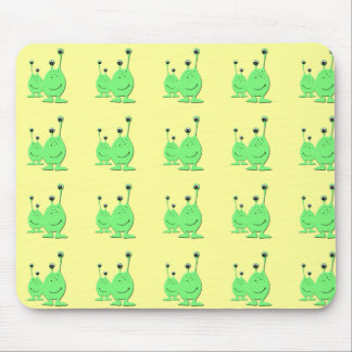 Alien Couple - Cute Cartoon Characters Mouse Pad
