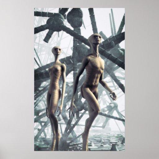 Alien couple poster