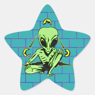 Alien Coverup Star Sticker