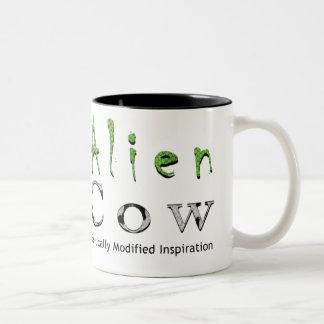 Alien Cow Brand Two-Tone Coffee Mug