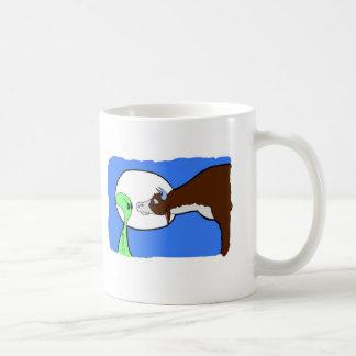 Alien Cow Classic White Coffee Mug