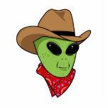Alien Cowboy Acrylic Cut Outs