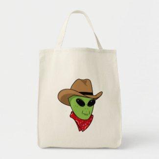 Alien Cowboy Canvas Bag