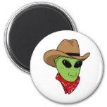 Alien Cowboy Magnets
