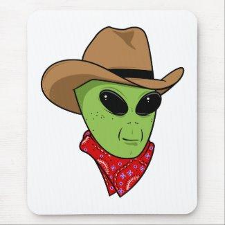 Alien Cowboy mousepad