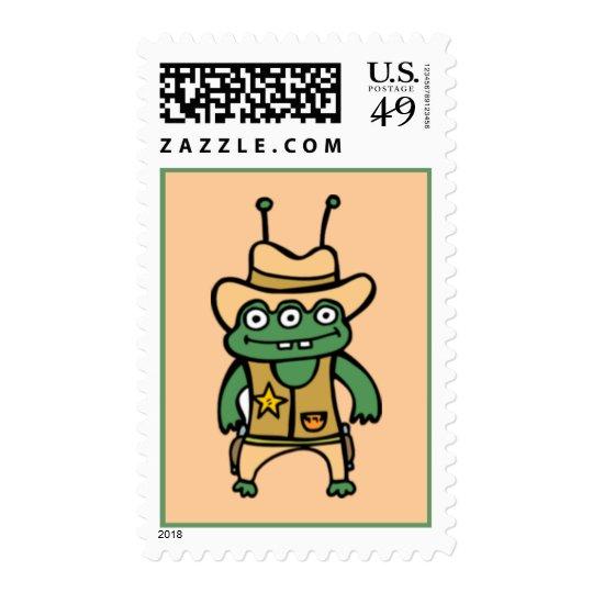 Alien Cowboy Postage