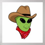 Alien Cowboy Posters