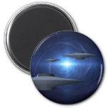 Alien Craft 2 Inch Round Magnet