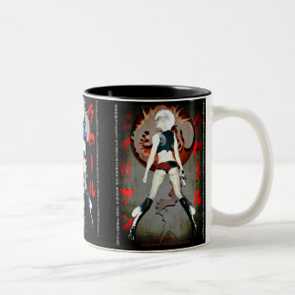 Alien crawl coffee cup Two-Tone coffee mug