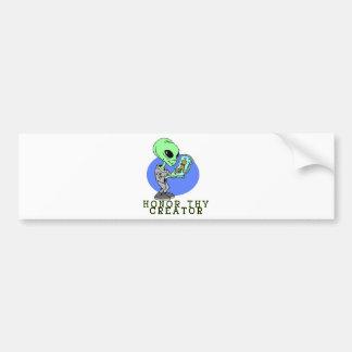 Alien Creator Car Bumper Sticker