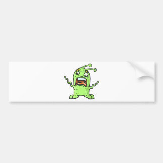 Alien Creature Sketch Bumper Sticker