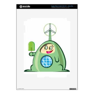 Alien Creature with Ice Cream iPad 3 Decal
