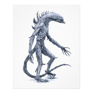 Alien Creature with Skull Photo