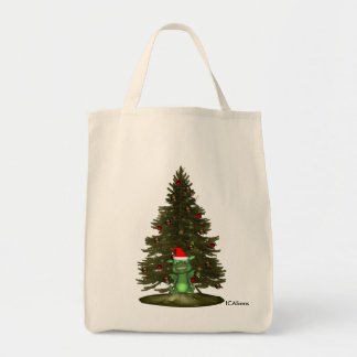 Alien Creatures Santa Tote Bag