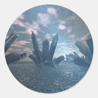 Alien Crystal World Sticker