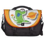 Alien D orange background Laptop Computer Bag