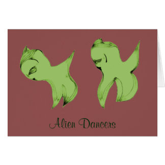 Alien Dancers Card