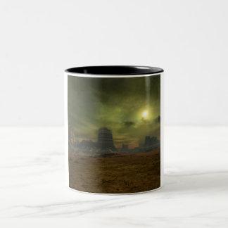 Alien Desert Two-Tone Coffee Mug