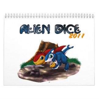Alien Dice 2011 - Beta Calendar