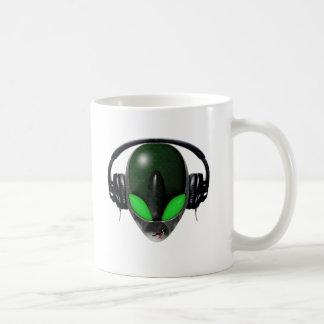Alien DJ Music Lover  - Reptile Green Coffee Mug