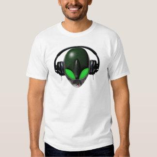 Alien DJ Music Lover  - Reptile Green T-shirt