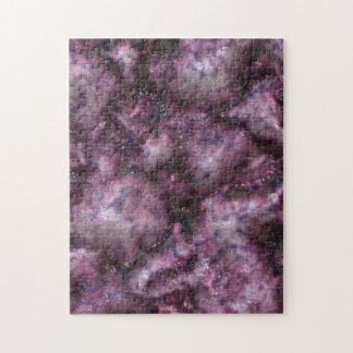 Alien DNA purple Jigsaw Puzzle