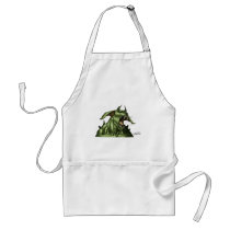 alien, aliens, dog, monster, warrior, invader, outer space, al rio, comic art, illustration, drawing, ufo, Apron with custom graphic design