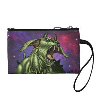 Alien Dog Monster Warrior by Al Rio Coin Wallets