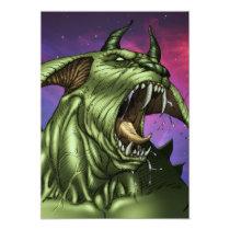 alien, aliens, dog, monster, warrior, invader, outer space, al rio, comic art, illustration, drawing, ufo, Invitation with custom graphic design