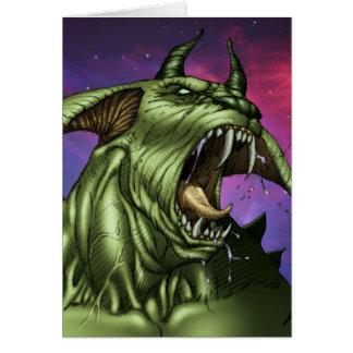 Alien Dog Monster Warrior by Al Rio Cards
