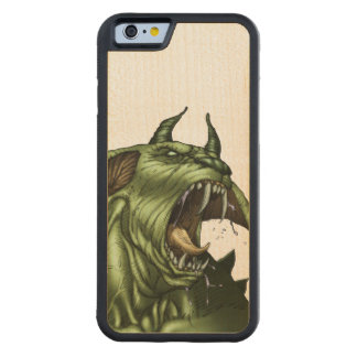 Alien Dog Monster Warrior by Al Rio Carved® Maple iPhone 6 Bumper