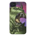 Alien Dog Monster Warrior by Al Rio Case-Mate iPhone 4 Case