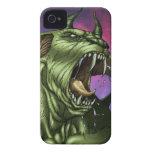 Alien Dog Monster Warrior by Al Rio iPhone 4 Case-Mate Case