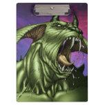 Alien Dog Monster Warrior by Al Rio Clipboard