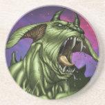 Alien Dog Monster Warrior by Al Rio Beverage Coasters