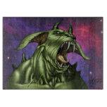 Alien Dog Monster Warrior by Al Rio Cutting Board