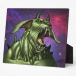 Alien Dog Monster Warrior by Al Rio Display Plaque