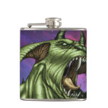 Alien Dog Monster Warrior by Al Rio Flask