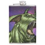 Alien Dog Monster Warrior by Al Rio Flasks
