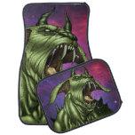 Alien Dog Monster Warrior by Al Rio Floor Mat