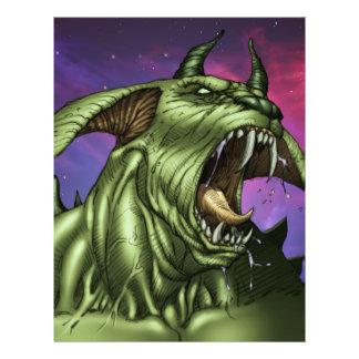 Alien Dog Monster Warrior by Al Rio Full Color Flyer