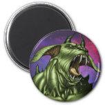 Alien Dog Monster Warrior by Al Rio Fridge Magnets