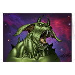 Alien Dog Monster Warrior by Al Rio Greeting Cards