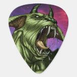 Alien Dog Monster Warrior by Al Rio Guitar Pick