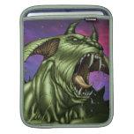 Alien Dog Monster Warrior by Al Rio iPad Sleeves