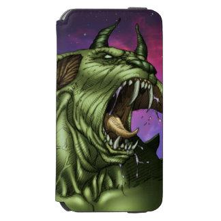 Alien Dog Monster Warrior by Al Rio iPhone 6/6s Wallet Case